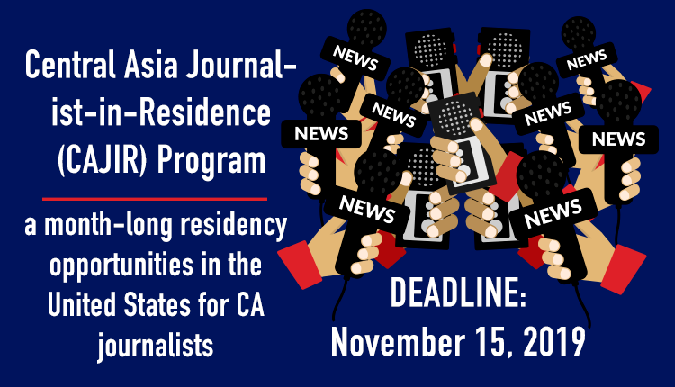 Central Asian Journalist in Residence Program 2020.mopportunities.com