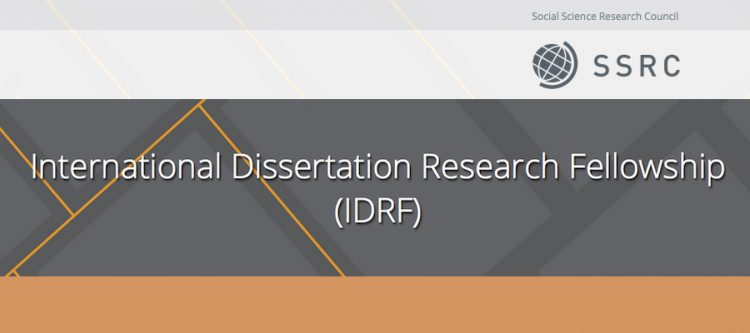 SSRC Doctoral Dissertation Research Fellowship 2020/21.mopportunities.com