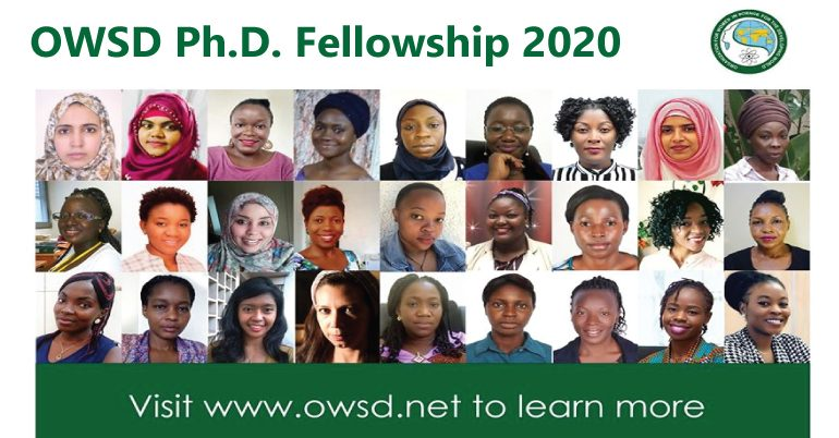 OWSD Ph.D. Fellowship 2020 (Fully Funded).mopportunities.com