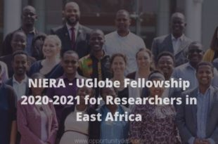 niera-uglobe-fellowship-2020-2021-for-researchers-in-east-africa-stipend_mopportunities.com